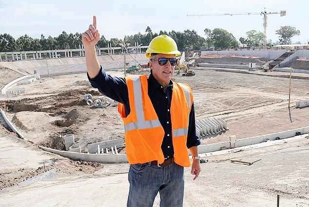 """""""El constructor"""" que no manda en obra de Peñarol"""