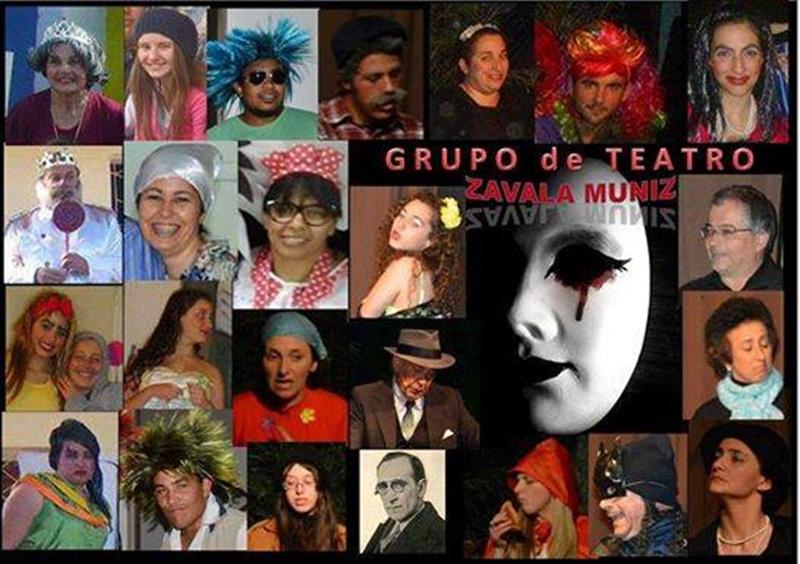 """El """"Día Mundial del Teatro"""" y los integrantes de la Comedia """" Zavala Muniz"""" de Cerro Largo"""