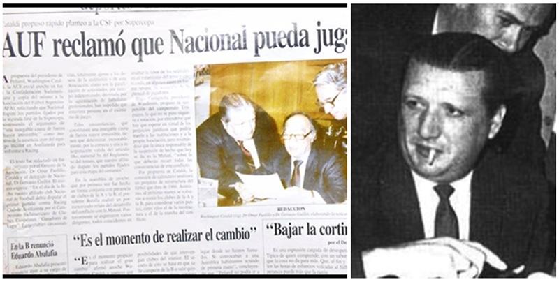 La mano de Washington Cataldi a Nacional, manoseando a clubes de la OFI