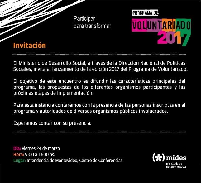 invitacion-voluntariado Uruguay