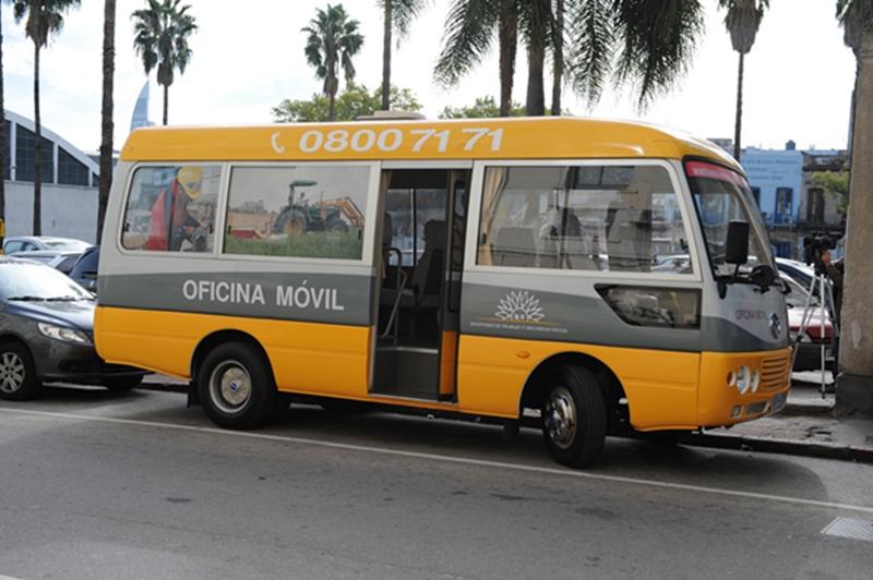 El MTSS viajará en una oficina móvil por el interior de Uruguay