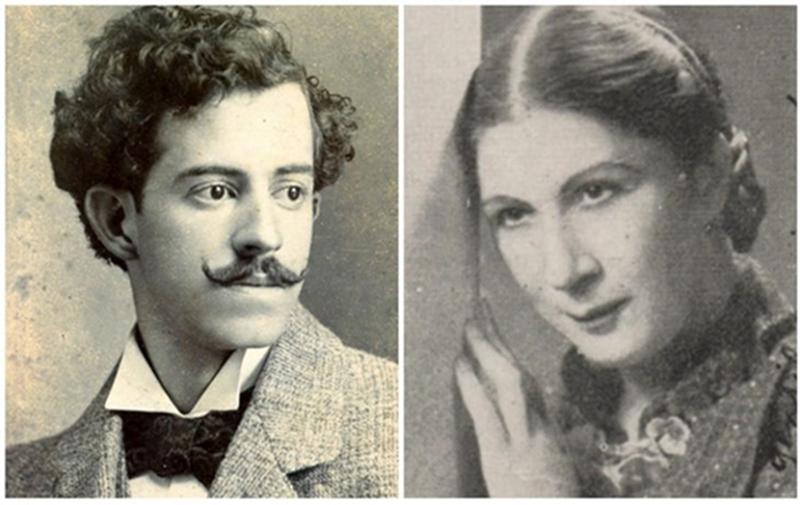 Ramón Mérica con Paulina Medeiros, la única de las cinco notorias mujeres con la que no llegó a casarse Felisberto Hernández