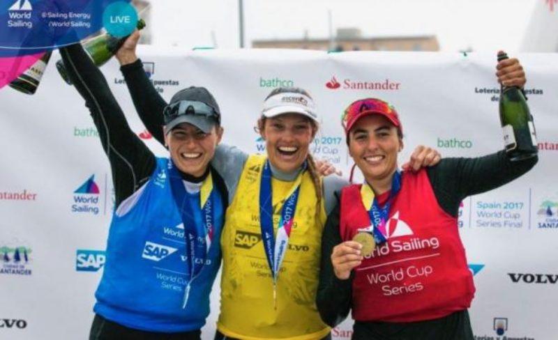 La sanducera Dolores Moreira es bronce velerista del Circuito Mundial de láser radial femenino