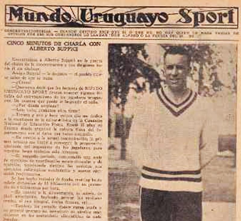 Saudades del coloniense Alberto Suppici, campeón mundial de 1930.