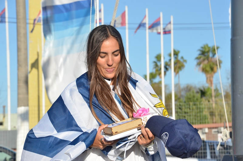 La campeona mundial juvenil de vela, la sanducera Dolores Lola Moreira, metida en el Museo Chacarero por JUCEDA