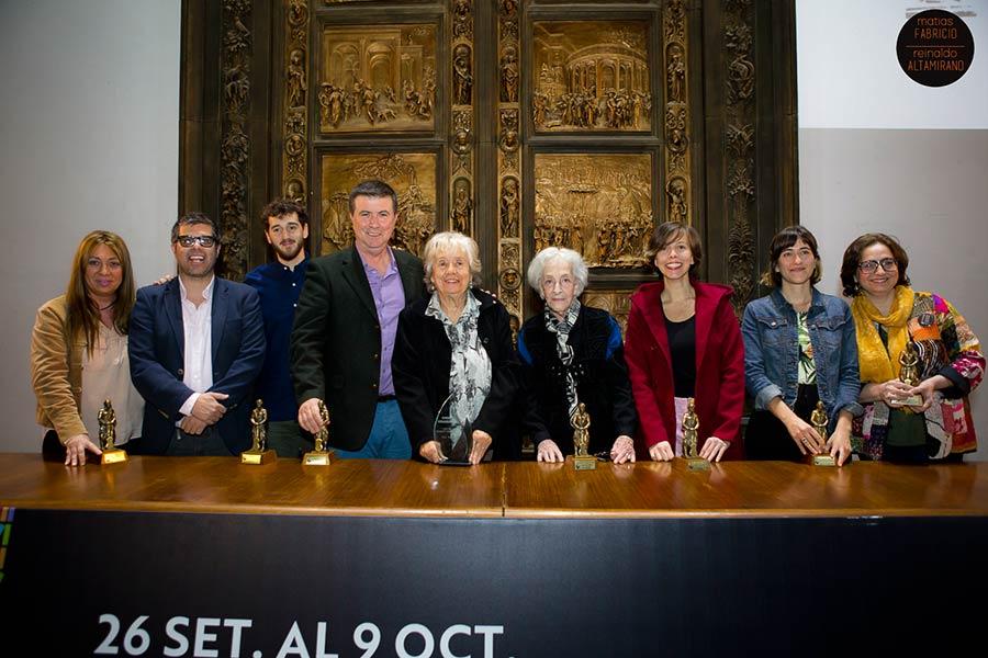 Los premiados en la entrega de los Bartolomé Hidalgo 2017