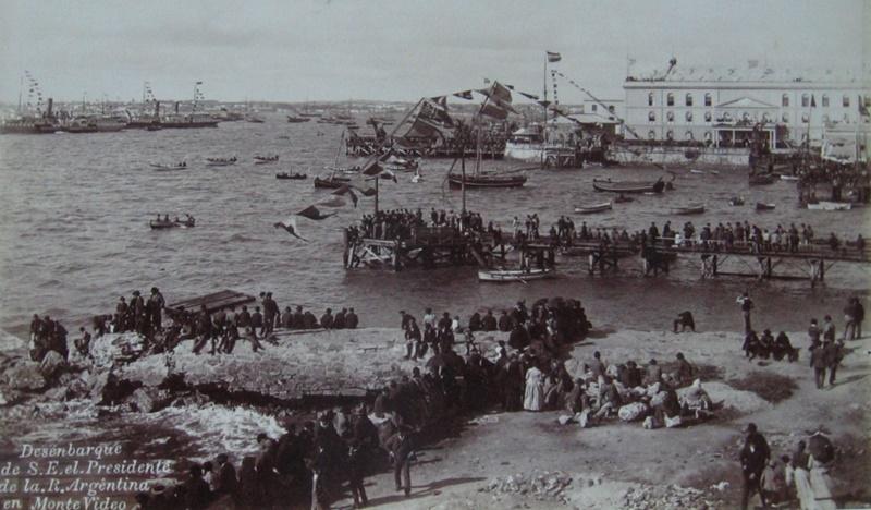 Historia del Puerto de Montevideo, desde la época Colonial hasta 1887, escrito por el Dr. José María Fernández Saldaña