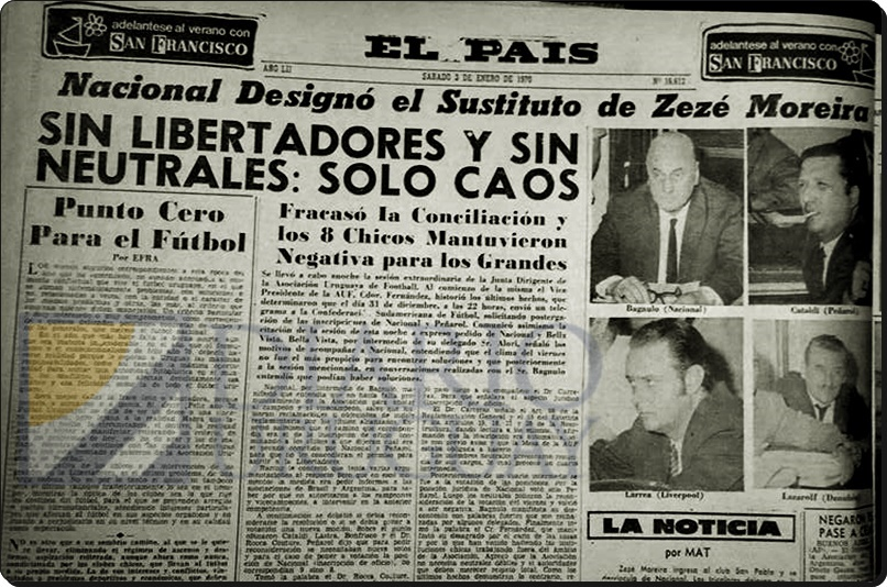 La profecía: En enero de 1970, ya hubo punto cero en el fútbol uruguayo, según Efraín Martínez Fajardo