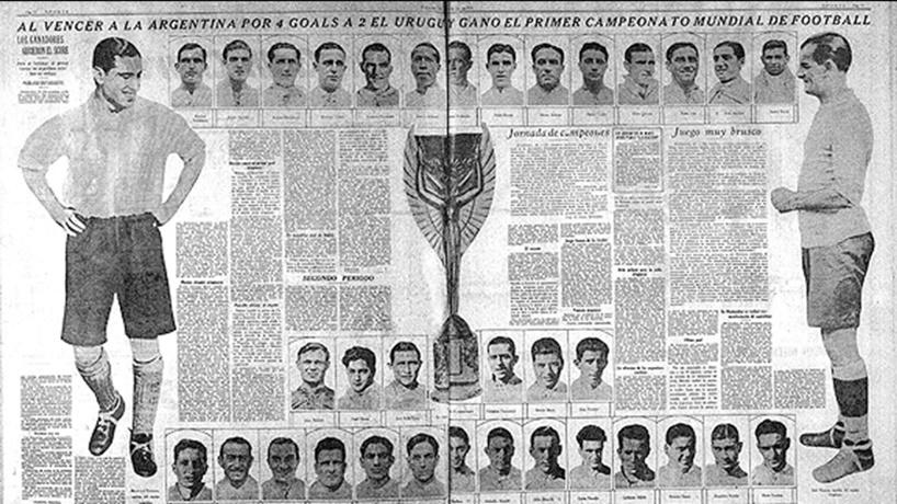 El Mundial del 30 ganado por Uruguay, con las formaciones y resultados de todos los partidos