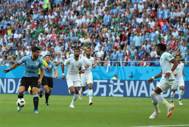A rabiar ganó Uruguay 1-0 a Arabia, y clasificó a Octavos de final del Mundial Rusia 2018