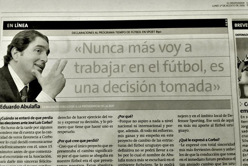 ¡ Guarda con los archivos!… ¿Eduardo Abulafia, tiene palabra para estar al frente del fútbol uruguayo?