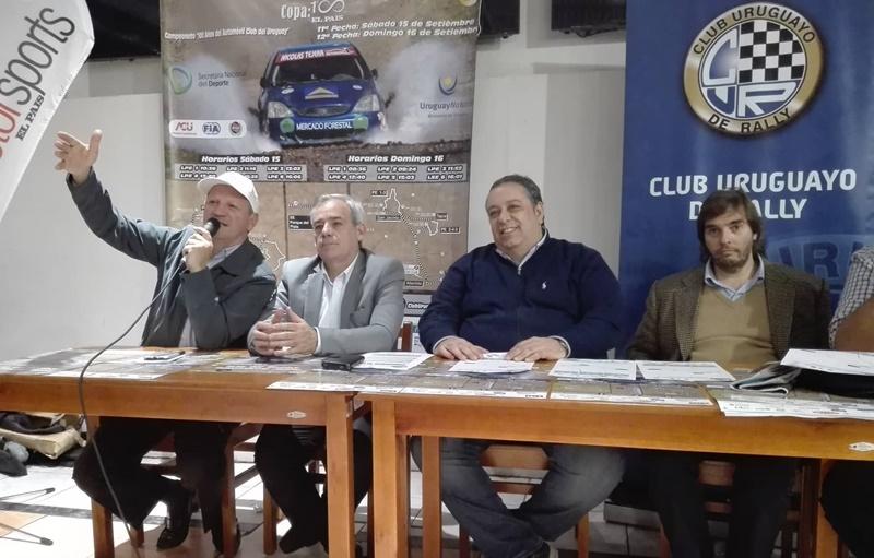 Copa 100 años diario El País. Atlántida le levanta y le baja la bandera al primer Campeonato Nacional de Rally