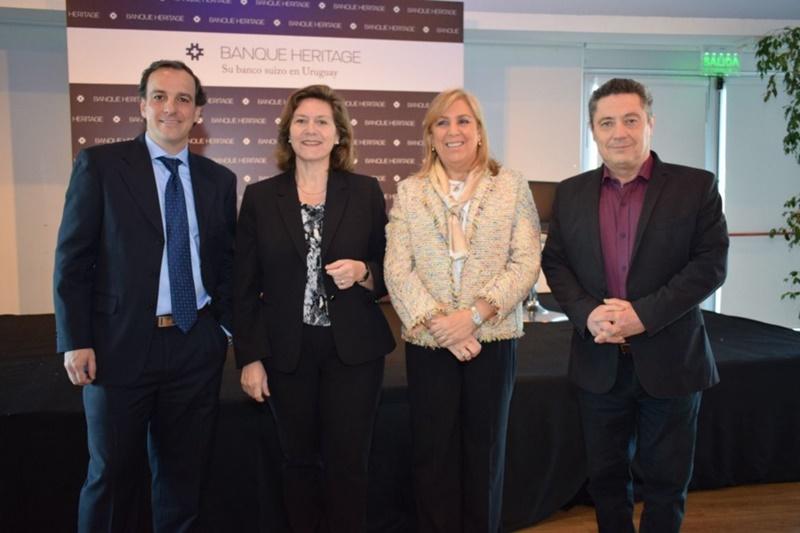 Banque Heritage. Desayuno de trabajo con la participación del periodista argentino Claudio Fantini.