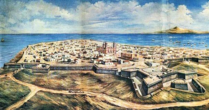 ¿Qué pasó fundado el Fuerte San José, y luego de San Felipe y Santiago, detrás de la muralla?