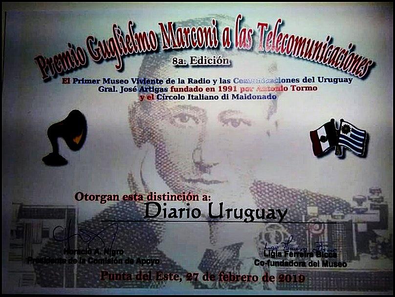 A sus 19 años: Diario Uruguay se vistió de gala para recibir el Premio Marconi 2019