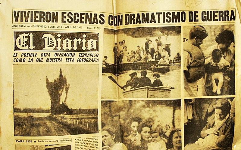 A 60 años de las inundaciones de 1959, en el interior de Uruguay