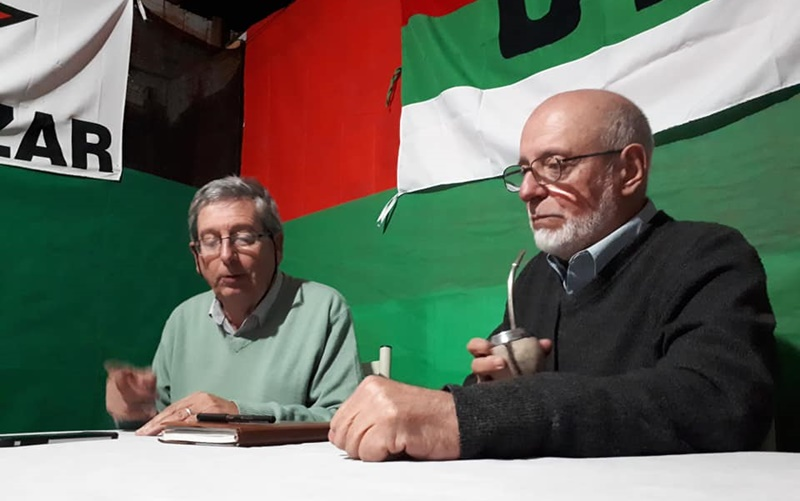 Como no pagaron, el maestro Gonzalo Abella y el diputado Eduardo Rubio en gira, no pudieron hablar en medios de Rivera