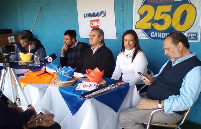 En tierras coloradas la gente de Larrañaga advirtió:»Para ganar, tenemos que dar en el blanco»