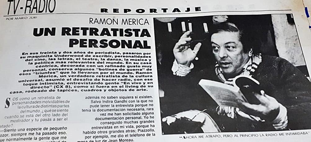 Ramón Mérica, un retratista personal. «Ahora me atrapó, pero al principio la radio me intimidaba»