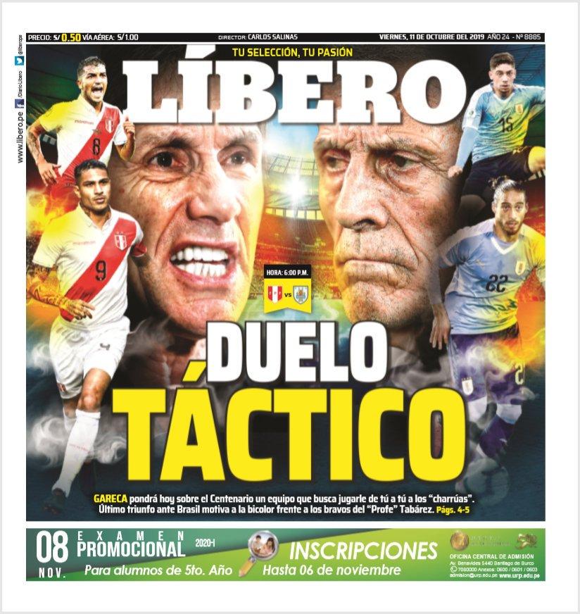 (Vivo) Uruguay 1 Perú 0 en fecha FIFA. Final del PT