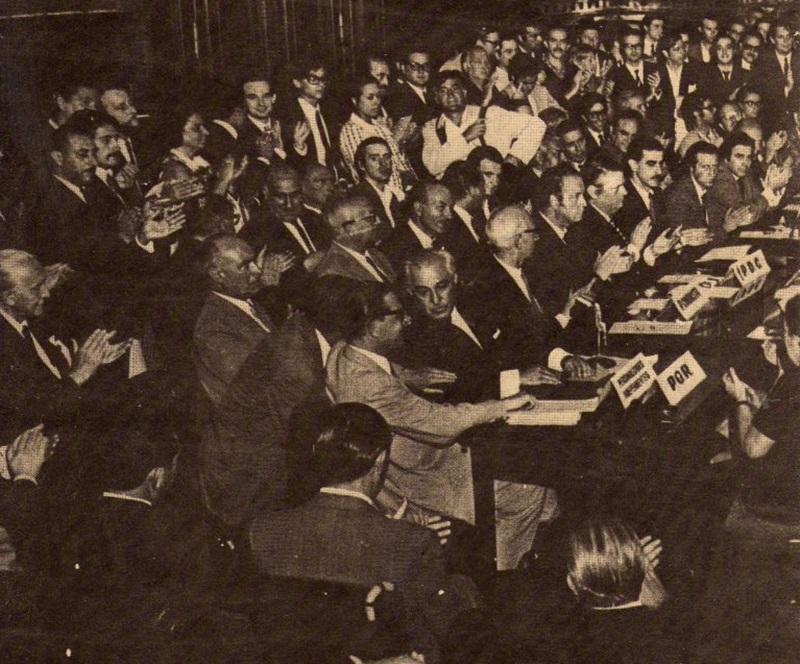 En 1971 los primeros rosaditos crearon una coalición para fundar el Frente Amplio