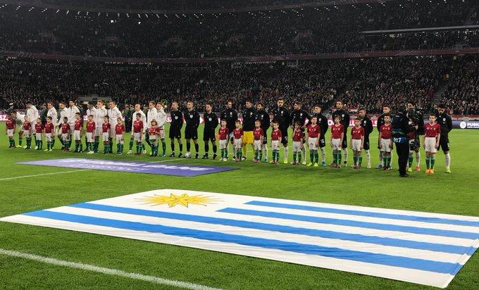 Uruguay venció a Hungría 2-1, con goles de Cavani y Brian Rodríguez