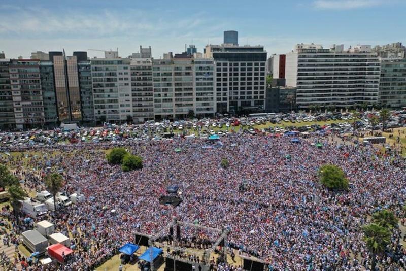 El primer acto del nuevo presidente de la República Oriental del Uruguay